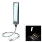 LED-05 0.8W 150LM USB Powered Smart Touch Dimmable White Light SMD LED Reading Lamp - Black + Silver