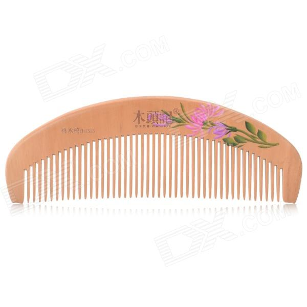 Mutouji 1515 Color Painted Peach Wood Hair Comb - Wood