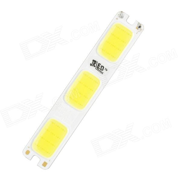 JRLED JR-LED-3W-W 3W 230lm 6500K 36-COB LED White Light Module - White + Light Yellow (DC 12V) car styling led headlight brow eyebrow daytime running light drl with yellow turn signal light for kia sportage 2011 2015