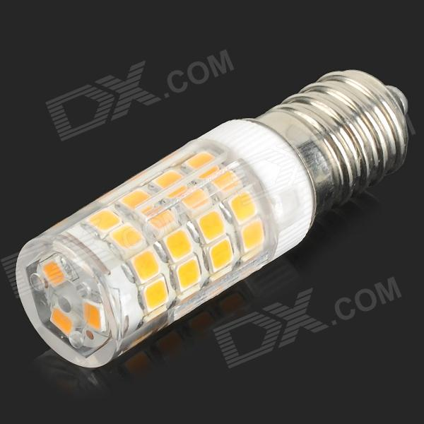 HH37 E14 3.5W 320lm 3200K 51-SMD 2835 LED Warm White Light Bulb - White + Yellow (AC 220~240V) 5pcs e27 led bulb 2w 4w 6w vintage cold white warm white edison lamp g45 led filament decorative bulb ac 220v 240v
