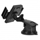 360 Degrees Rotation Car Suction Cup Holder Mount for Cellphone - Black