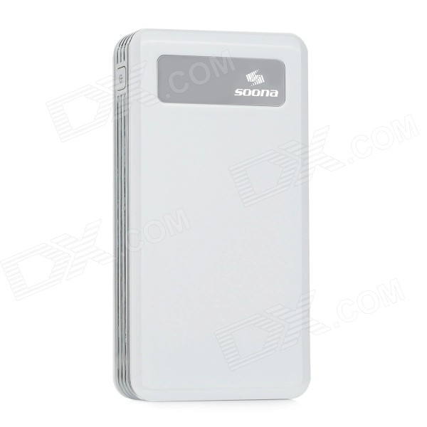 SOONA SNA8020 Universal 1 OLED Screen 15000mAh External Li-polymer Battery Power Bank - White