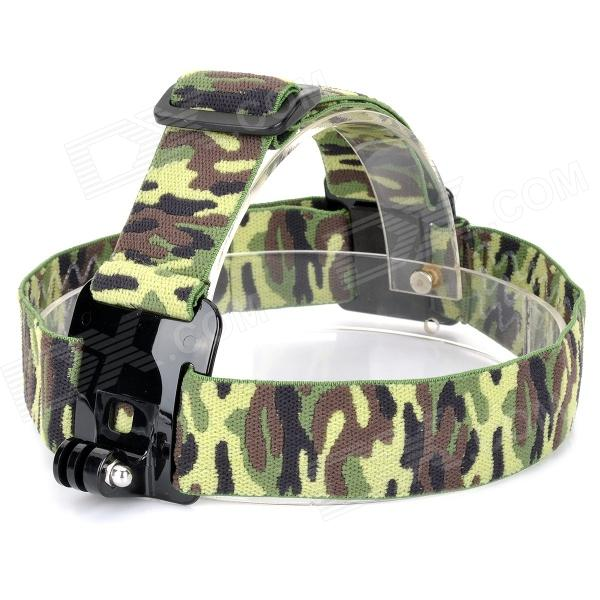 GP23C Camera Fixed Headband Holder for Gopro Hero 4/ 3+ / 3 / 2 / 1 - AT Camouflage fenvi g 270 protective camera eva storage case bag for gopro hero 4 3 3 2 sj4000 acu camouflage