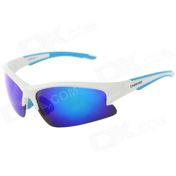 Carshiro MS0083 Outdoor Blue REVO Lens Polarized UV400 Cycling Goggles w/ Replacement Lenses Set topeak outdoor sports cycling photochromic sun glasses bicycle sunglasses mtb nxt lenses glasses eyewear goggles 3 colors