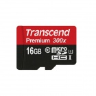 Transcend Premium Micro SDHC TF Flash Memory Card - Black (16GB)