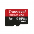 Transcend Premium Micro SDHC TF Flash Memory Card - Black (8GB)
