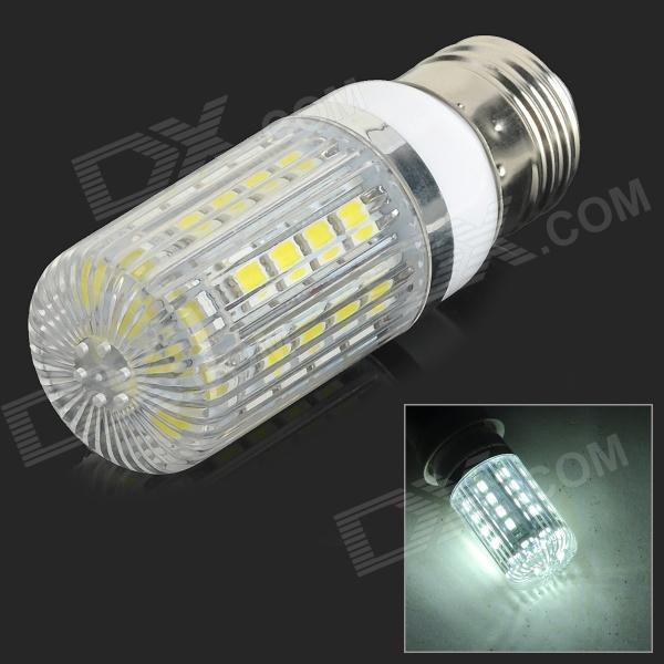 Lexing LX-YMD-091 E27 4.5W 36-SMD 5050 LED White Dimmable Corn Lamp - White + Beige (AC 220~240V) lexing lx qp 20 e14 6w 470lm 3500k 15 5730 smd led warm white light dimmable lamp ac 220 240v