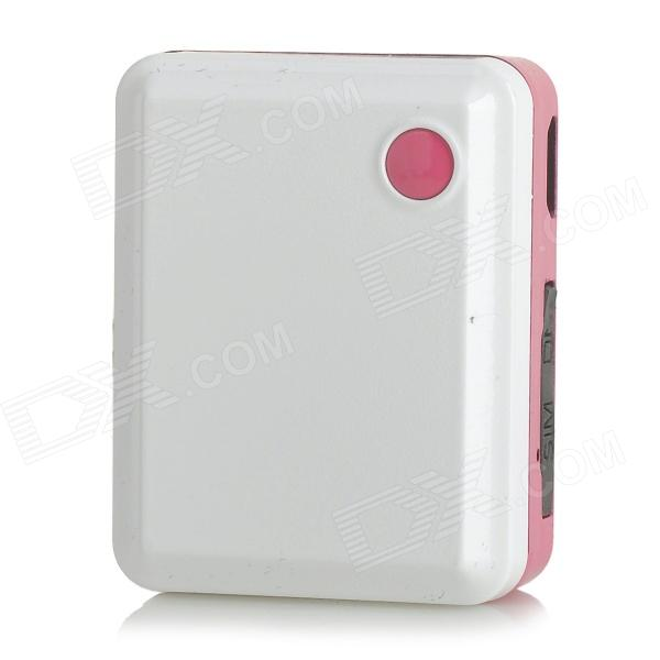 Portable GSM / GPS Mini Positioning Tracker / Alarm - White mini gsm gps tracker for kids elderly personal sos button track with two way communication free platform app alarm