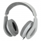 Gorsun GS-C7701 3.5mm Wired Stereo Bass Headphones w/ Microphone - White + Grey (1.2m-Cable)