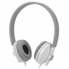 Gorsun GS-C7705 Wired Dynamic Stereo Bass Headphones Headset - White + Grey