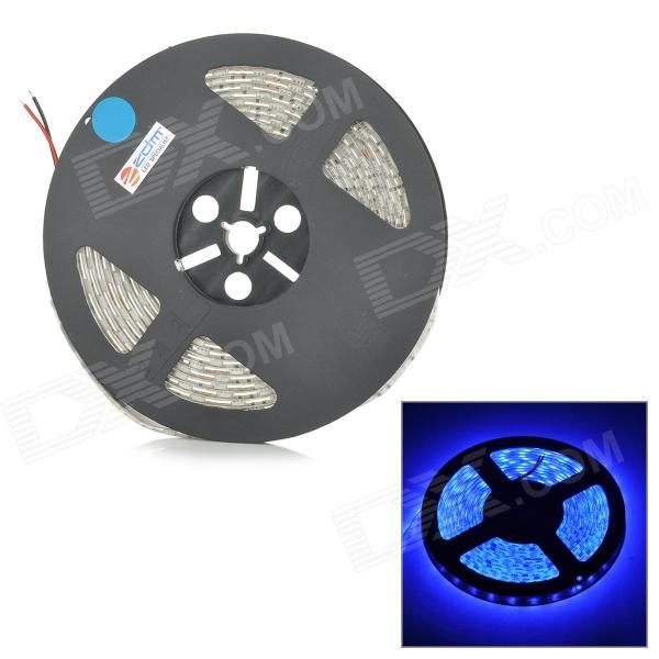 ZDM Waterproof 72W 200lm 470nm 300-SMD 5050 LED Blue Light Strip - White + Grey (DC 12V / 5M) zdm waterproof 72w 200lm 470nm 300 smd 5050 led blue light strip white grey dc 12v 5m