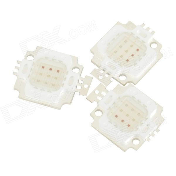 JRLED JRLED-FX-10W-RGB 10W 150lm 9-LED RGB Square Light Emitter Boards - White + Silver (3 PCS)