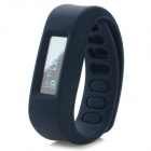 "1"" LCD Screen USB Powered Bluetooth V4.0 Smart Wrist Band Bracelet w/ Sleep Monitoring - Black"