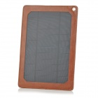 A4W 4W USB Output Monocrystalline Silicon + PU Solar Panel Charger w/ Card Slots - Brown + Blue