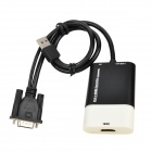 Apower-link D-086 VGA to HDMI Audio / Video Converter - Black + White