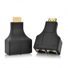 CYF-3001 HDMI to RJ45 CAT-5e / 6 HD 3D Signal Extension Adapters - Black (2 PCS)