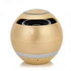 BL-25 Mini Portable Bluetooth V3.0 Speaker w/ FM / TF / Micro USB / Mic. - Golden + Silver