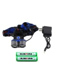 KINFIRE S200 1100lm 3-Mode White Outdoor Headlamp - Black + Blue