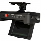 "VACRON E05 3.0"" Full HD 1080P 5.0MP CMOS 105 Wide Angle Car DVR w/ GPS, IR Night Vision - Black"