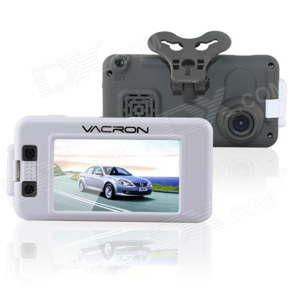 "VACRON CBN01 3.0"" Full HD 1080P 5.0MP CMOS 120 'Grand Angle voiture DVR w / GPS, vision de nuit infrarouge - Blanc"
