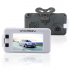 "VACRON CBN01 3.0"" Full HD 1080P 5.0MP CMOS 120' Wide Angle Car DVR w/ GPS, IR Night Vision - White"