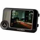 "VACRON CBN11 3.0"" Full HD 1080P 5.0. MP CMOS 105' grande angular carro DVR w / GPS, IR Night Vision - preto"