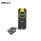 PNY ROCKY ATTACHE USB 2.0 Flash Drive - Grau + Gelb (32GB)