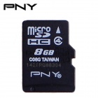 PNY TF8G-Class4 Class4 Micro SDHC TF Card - Black (8GB)