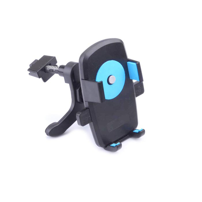 360' Rotation Car Air Conditioning Vent Mounted Holder Bracket for Cellphone / GPS - Black + Blue