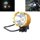 KINFIRE U-T6Y 12V 600LM 6800K Cool White Headlight w/ CREE XM-L T6 for Motorcycle - Yellow