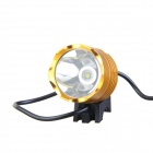 KINFIRE U-T6Y 12V 600LM 6800K Cold White Headlight w/ CREE XM-L T6 for Motorcycle - Yellow