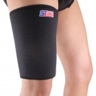 ShuoXin SX650 Sports Breathable Elastic Thigh Guard Support Wrap Band - Black