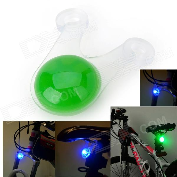 Marsing 3-Mode Bike Bicycle Green Light LED Tail Warning Light - Green (1 x CR2032)