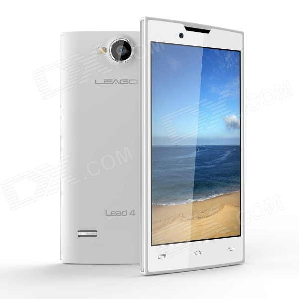 LEAGOO Lead4 Dual-Core Android 4.2 WCDMA Bar Phone w/ 4.0 WVGA, 4GB ROM, Wi-Fi, GPS , OTA - White leagoo lead4 dual core android 4 2 wcdma bar phone w 4 0 wvga 4gb rom wi fi gps ota white