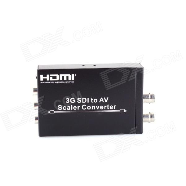 HDV-S007 SDI to AV Scaler Converter w/ CVBS / SDI-IN / SDI-OUT / RCA - Black wifi fpv rc drone tk110hw with 720p hd camera folding rc quadcopter drone app control