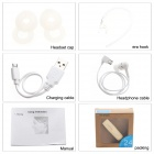Bluetooth V4.0 Earhook Handsfree Stereo Headset w/ Microphone - Golden