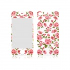 Angibabe Rose Pattern Front and Back Tempered Glass Screen Protector for IPHONE 4 / 4S