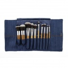 IN-Color YF-10W Cosmetic Makeup Carbonized Bamboo Handle Brush Set - Wood