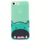 Cartoon Pattern Ultra Thin TPU Back Case Cover for IPHONE 5 / 5S - Green + Multicolor