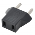 Flat to Round Power Plug Adapter - Black