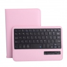 Removable Magnet Bluetooth 3.0 59-Key Keyboard w/ PU Leather Case for IPAD Mini 1 / 2 - Pink + Black