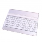 GC EJ003 Portable Aluminum Bluetooth 3.0 82-Key Keyboard for IPAD 2 / 3 / 4 - White + Silver