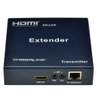 CHEERLINK EX0202 4K x 2K Full HD HDMI 1.4 Transmitter + Receiver Extender - Black