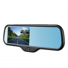 5-inch Capacitive Screen HD 1080P CMOS Front & Rear Camera Car DVR w/ GPS - Black