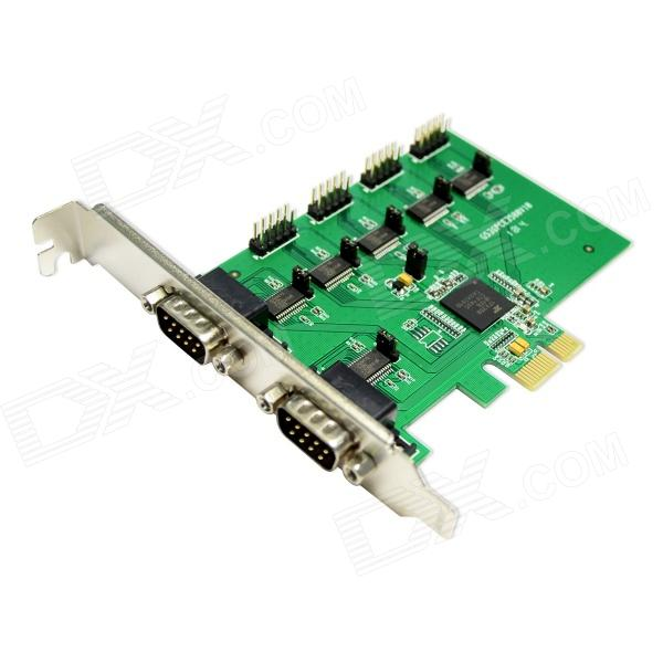 IOCREST SI-PEX15040  6-Port Serial PCI-Express Card XR17V358 Chipset - Green