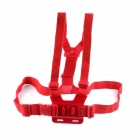 PANNOVO G-578R Elastic Chest Belt Shoulder Strap Mount for GoPro Hero 2 / 3 / 3+ / SJ4000 - Red