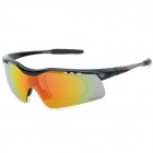 OBAOLAY SP0875 PC Frame Resin Lens UV400 Protection Sports Cycling Sunglasses Goggles - Black