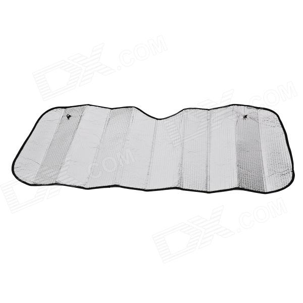 60 x 130 Windshield Sun Block Sunshade Plate Cover for Car - Silver