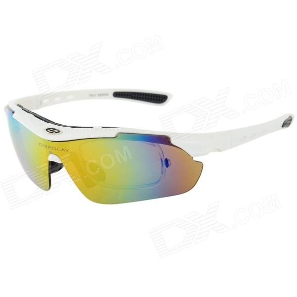 OBAOLAY SP0871 UV400 Protection Polarized PC Sports Sunglasses Goggles - White