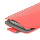 Protective PU Leather Pouch Bag Case for Samsung Galaxy S5 G9000 - Red